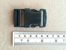 1 Inch. 4 Pcs Buckle Hooks Backpack Making Black Plastic Craft Hooks 5.5 x 3 cm.