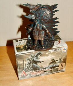 """MEGAHOUSE Art Works 2 1/2"""" Tall 1957 MOGUERA Diorama Mini HG Figure Godzilla"""