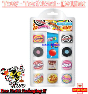 10 x Barrat Anglo Novelty Eraser Pack Lollies Style Rubber Lollipops