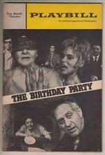 "Harold Pinter  ""The Birthday Party""  Playbill 1967  Alexandra Berlin, Ruth White"