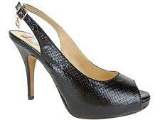 Thalia Sodi Women's Camilla Slingback Pumps Black Snake Size 10 M