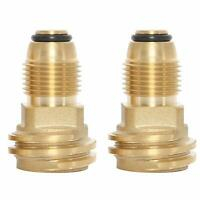 Brass Propane Gas Adapter Converts POL LP Tank Service Valve to QCC1 Hose 2pcs