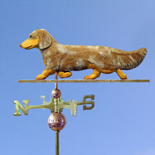 Dachshund Long Hair Hand Carved Hand Painted Basswood Dog Weathervane Red Dapple