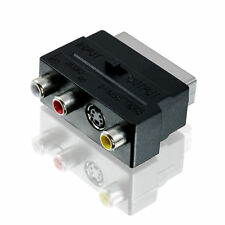 Scart Stecker auf 3x Chinch Buchse + S-Video Adapter