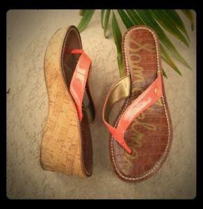 Sam Edelman Coral Romy Thong Cork Wedge Sandals || Sz 6