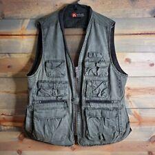 Kakadu mens shooting, outdoors utility vest, grey, sz 3XL
