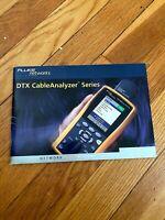 Fluke Networks DTX CableAnalyzer Series User Manual