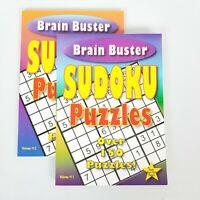 LOT of 2 SUDOKU BRAIN BUSTER PUZZLE BOOKS VOLUME 11 & 12 NEW
