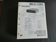 ORIGINALI service manual Sony mdx-u1 u1rds