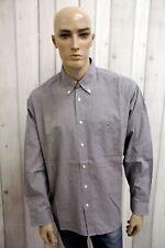 LACOSTE Uomo Camicia Shirt Francia Cotone Casual Chemise Manica Lunga Taglia 2XL