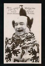 CIRCUS Clown Christmas greetings 1907 RP PPC by Davidson Bros