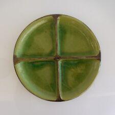 Assiette plat rond céramique faïence vintage art-déco France