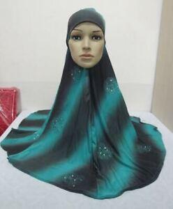 Muslim Amira Long Maxi Prayer Hijab Scarves Wrap Shawl Jilbab Head Scarf Covers
