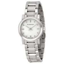 Neuf burberry BU9224 femme argent carreaux Cadran Cristaux Watch - 2 ans de garantie