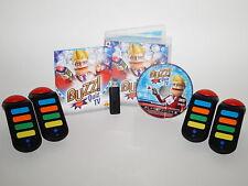 Playstation 3 PS3 Spiel BUZZ Quiz TV mit 4 Wireless Buzzern und Empfänger ~3444