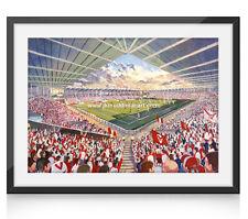 More details for langtree park stadium fine art a4 framed print - st helens rugby league