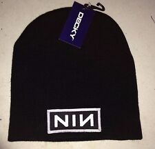 NINE INCH NAILS NIN LOGO LICENSED BEANIE CAP ROCK  NEW! t-shirt