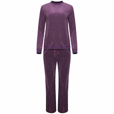 Ladies Women Jogging Suit Velour velvet Comfortable Pyjamas Top Bottom Tracksuit