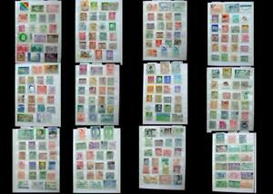 Stamp Collection Hong Kong Vietnam Philippines Korea China Japan Singapore Laos