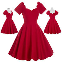 Audrey Hepburn Style Vintage Divinity 1950s Swing Pin Up Cocktail Evening Dress
