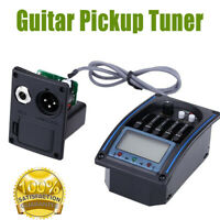 5 bandes EQ Equalizer Pickup Tuner pour guitare acoustique Micro guitare