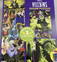 Disney Villians Jigsaw Puzzle 3 Pack with Glue 2020   NEW