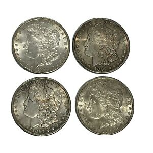Estate Purchased (4) 1897 Morgan Silver Dollars Original
