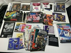 Huge Lot of Video Game Boxes, Manuals and Paperwork SNES GBA XBox
