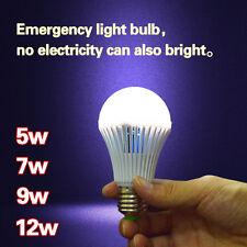 LED E27 Energy Saving Intelligent Emergency Bulb Light Rechargeable Lamps #