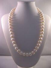 Collana donna Perle coltivate 11mm. ,Chiusura in Argento ,lunghezza cm.53