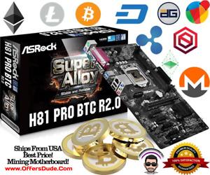 MINING MOTHERBOARD! BRAND NEW! ASRock H81 PRO BTC R2.0 LGA 1150 6 PCIE BITCOIN!