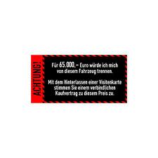Auto Anti-Visitenkarten-Aufkleber Rot Sticker Fahrzeug Digitaldruck Decal