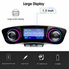 Transmisor MP3 FM Reproductor Mechero Coche Radio Volumen TF Aux USB LCD DC ES
