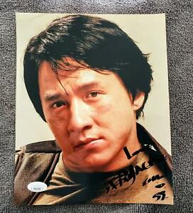 """Jackie Chan Signed & Inscribed Color 8x10"""" Photo w/JSA Sticker & Certification"""
