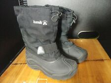 KAMIK Waterproof SNOW BOOTS Removable Lining BLACK Child Youth size 1