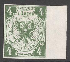 Lübeck Mi. Nr. 5b(*) ungebraucht LUXUS Randstück