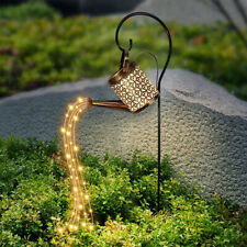 More details for led watering can string light solar powered outdoor garden art lamp decoration/w