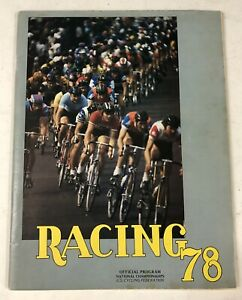 Vintage 1978 US Cycling Racing Official Program National Champions Magazine