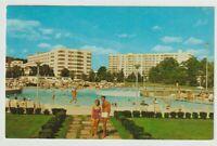 Unused Postcard Concord Hotel Swimming Pool Kiamesha Lake New York NY