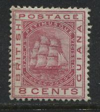 British Guiana 1882 8 cents rose unused no gum