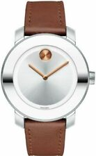 Movado 3600379 Women's Swiss Quartz Stainless Steel and Leather Watch - Brown