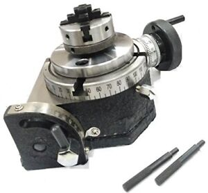 """4""""/100 MM TILTING MILLING INDEXING ROTARY TABLE+M6 CLAMP KIT+VICE+50MM 4JAW SELF"""