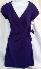 DVF Diane Von Furstenberg Purple Faux Wrap SUELITA Dress Size 6 NWT $345