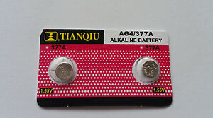 2x 377/AG4/377A EXP 2022 1.5v Alkaline Batteries for watches etc Post from MELB