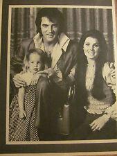Elvis Presley, Full Page Vintage Pinup, Priscilla and Lisa Marie