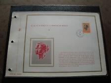 MONACO - document 1er jour 9/8/1971 timbre yvert et tellier aerien n° 90A stamp