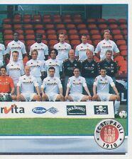 N°167 MANNSCHAFT TEAM # DEUTSCHLAND FC.ST PAULI STICKER PANINI BUNDESLIGA 2002
