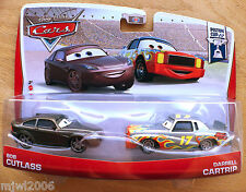 Disney PIXAR Cars BOB CUTLASS DARRELL CARTRIP 2013 PISTON CUP 2-PACK 3&4/18