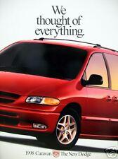 1998 Dodge Caravan/Grand Caravan new vehicle brochure