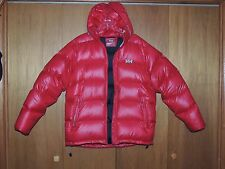 Men's L shiny Puffa Red Helly Hansen Down Nylon Jacket